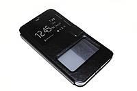 Кожаный чехол книжка для Microsoft Lumia 640 XL чёрный