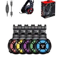 Геймерские наушники для игр с микрофоном Игровые наушники Fantech HG11 Звук360 Игровая гарнитура 7.1 подсветка