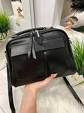 Женская сумка Grey черная СГФ56, фото 3