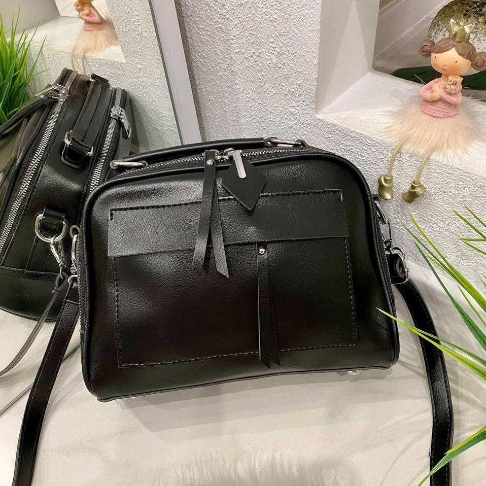 Женская сумка Grey черная СГФ56
