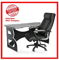 Компьютерный стол со стулом Barsky HG-06/BD-01 Homework Game Black/White, геймерская станция