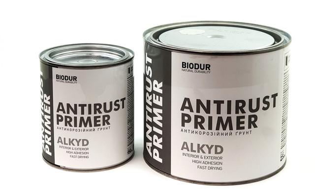 Грунт антикоррозийныйалкидный  серый Biodur 2,5кг