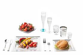 Набор посуды стеклопластик Capital For People белый с серебром 96 предметов