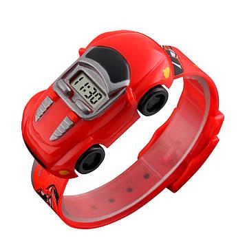 Детские часы машинкой Skmei 1241 красные