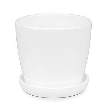 Вазон Зеленая сотка Сонет премиум 10 х 10 см Белый (000004516)