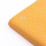 """Ткань бязь """"Маленькие цветочки с точкой внутри"""" на жёлтом фоне, №3212а, фото 4"""