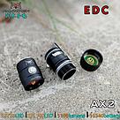 Фонарь AMUTORCH AX2 SST20 1100LM EDC+ Аккумулятор 16340 900mAh Свет теплый 5000k маленький ручной, фото 6
