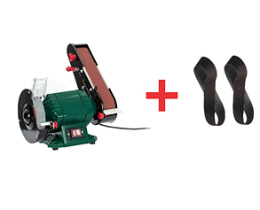 Точило дисково стрічкове GRADE(1200Вт) наждак гріндер точильний стано + 2 стрічки в подарунок