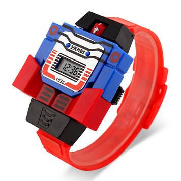 Детские часы роботом Skmei 1095 красные