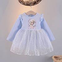 Шикарное детское платье с Эльзой на девочку 1-2 года