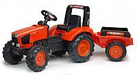 Трактор детский педальный Falk 2060AB Kubota с прицепом
