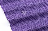 """Ткань бязь """"Маленькие цветочки с точкой внутри"""" на сиреневом фоне, №3210а, фото 6"""