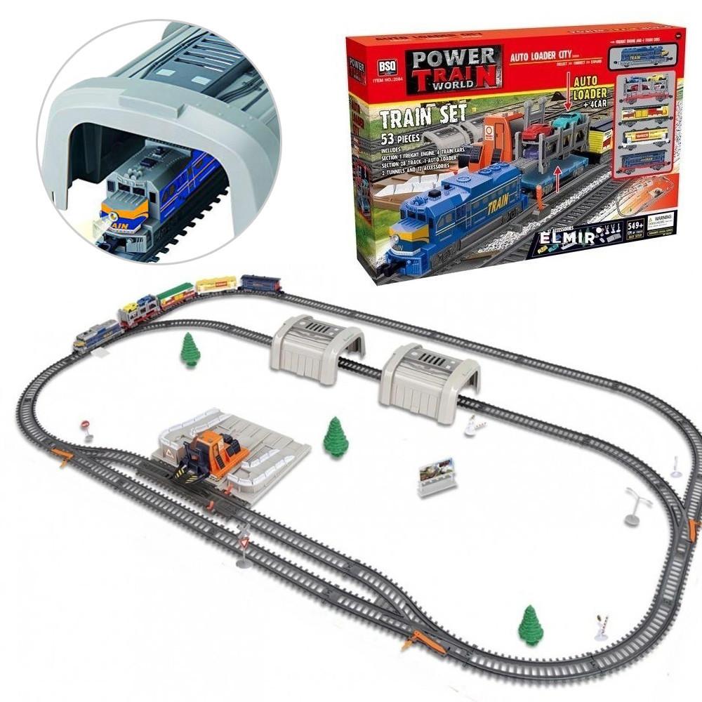 Большая Детская железная дорога 549 см Поезд игрушечный  Развивающий конструктор железная дорога