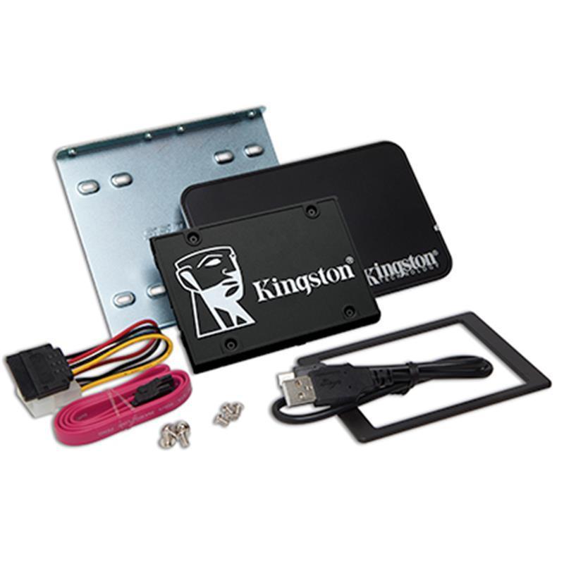 Накопитель SSD 2TB Kingston KC600 2.5 SATAIII 3D TLC (SKC600B/2048G) Bundle Box