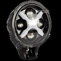 Фара LED круглая 60W 6000К ближний +дальний+ ДХО (194х121х105мм) Гарантия! От 2-х штук цена ниже!