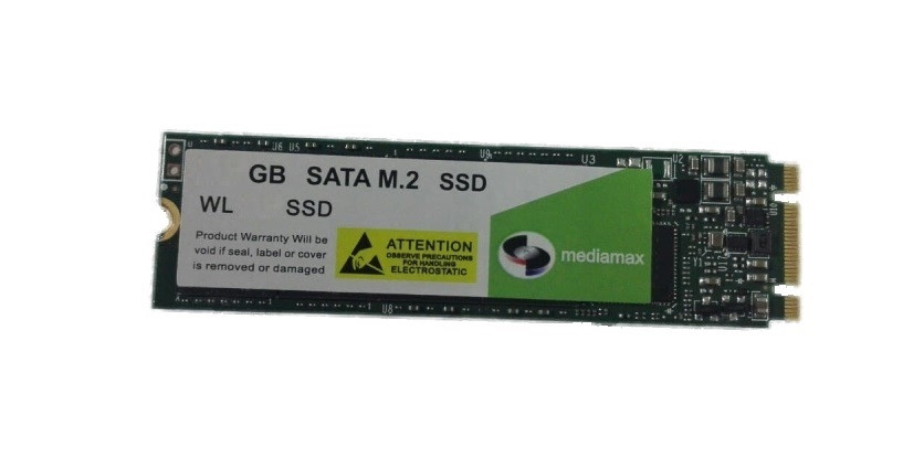 Накопитель SSD 1TB Mediamax M.2 2280 SATAIII 3D NAND TLC (WL 1000 SSD M.2) Refurbished наработка до 1%