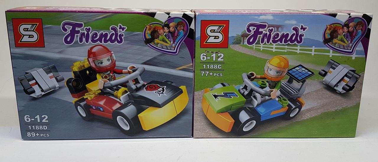 Конструктор SY1188 гоночна машинка, фігурка, від 75 дет