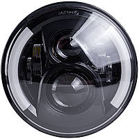 Фара на Ваз, НИВА, УАЗ, Jeep, Toyota, и другие. Фара главного света LED ближний+дальний+ходовые огни 7 дюймов