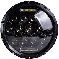 LED фара, оптика Ваз, Нива, Уаз, Газ, ближний + дальний + ДХО 7 дюймов