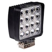Фара LED квадратная 48W (широкий луч) 3D линза. Гарантия 1 год!