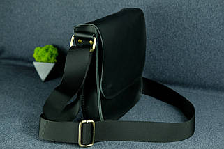 """Чоловіча сумка """"Модель №39"""" шкіра Grand, колір Чорний, фото 2"""