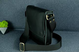 """Чоловіча сумка """"Модель №39"""" шкіра Grand, колір Чорний, фото 3"""