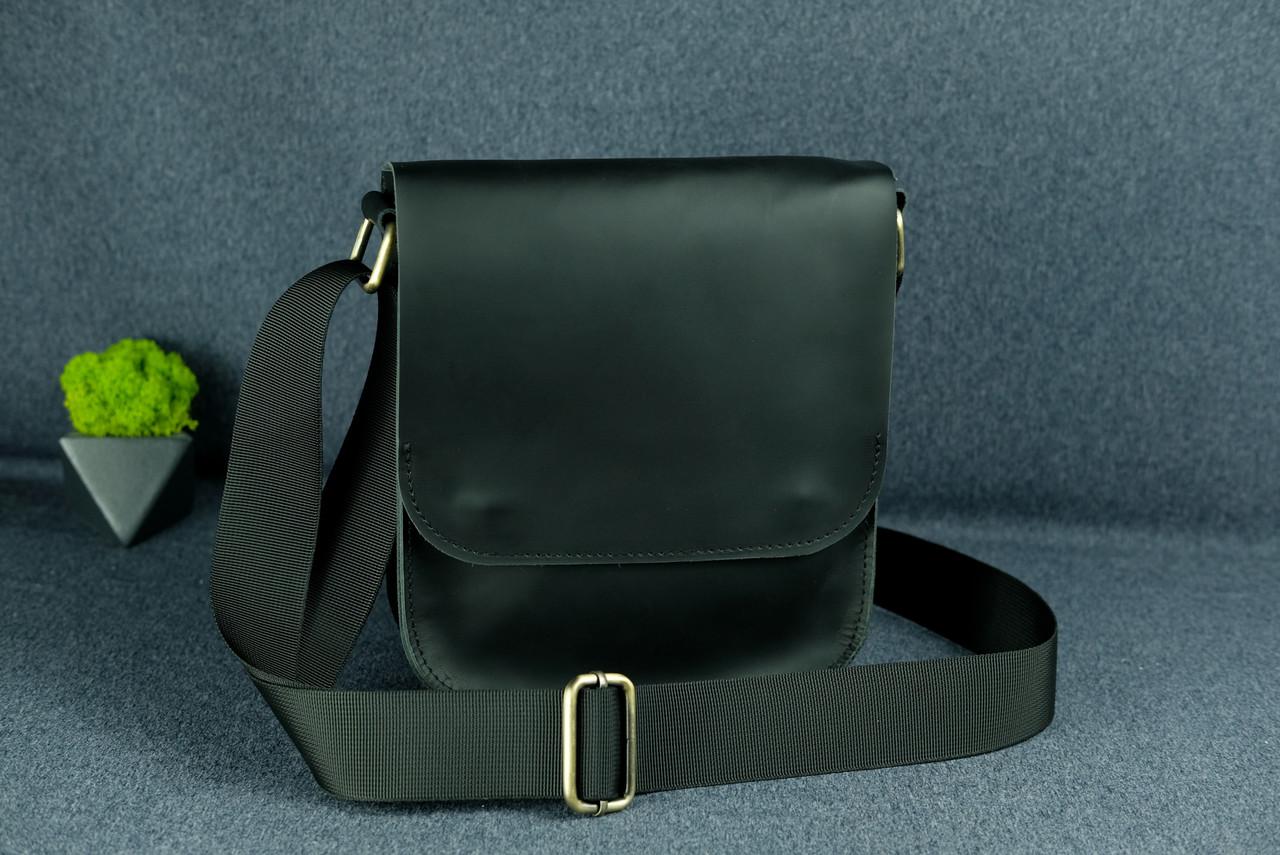 """Чоловіча сумка """"Модель №39"""" шкіра Grand, колір Чорний"""