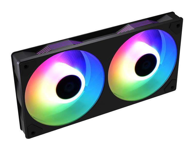Вентилятор ID-Cooling Icefan 240 ARGB, 245x125x27мм, 3-pin, 4-pin PWM, черный