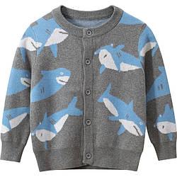 Кардиган для хлопчика Блакитна акула 27 KIDS (120)