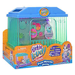 Інтерактивна іграшка 2613(Turquoise) мишка 7см, будиночок