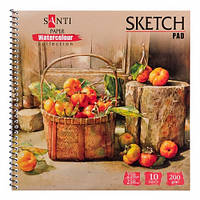 Альбом для акварели SANTI Botanic, Paper Watercolour Collection, 10 л., 200г/м2 742835