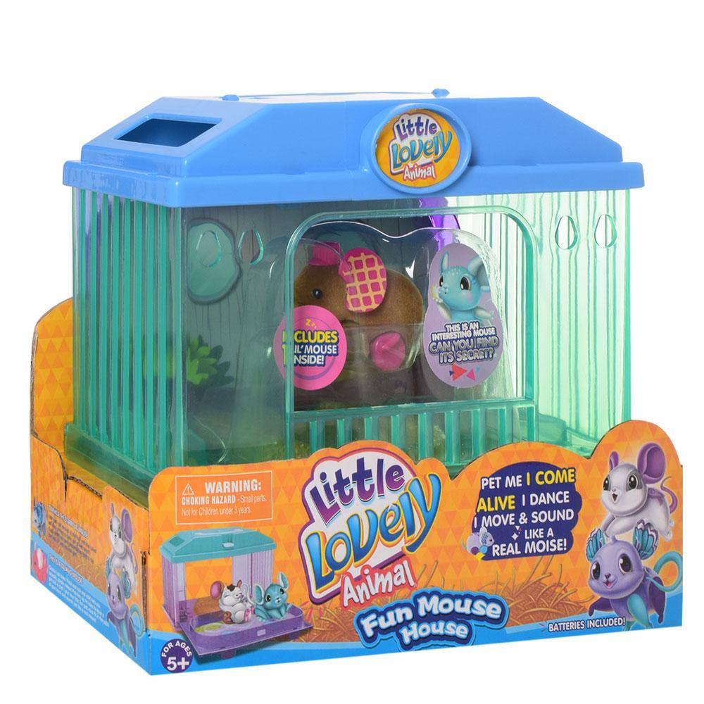 Интерактивная игрушка 2613(Brown) мышка 7см, домик
