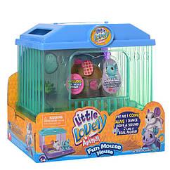 Інтерактивна іграшка 2613(Brown) мишка 7см, будиночок