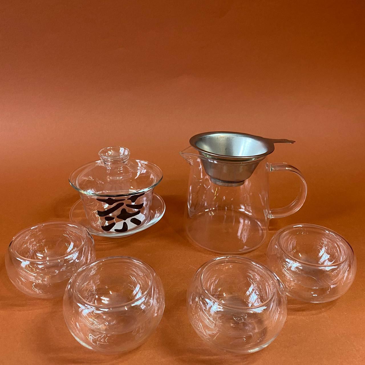 Набір посуду для чайної церемонії зі скла 7 предметів