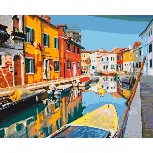 Набор, картина по номерам Красочный город, 40*50 см., SANTI 953839