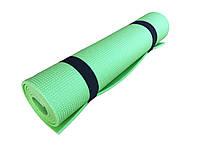Коврик для фитнеса, спорта, танцев, туризма Naprolom М, зеленый