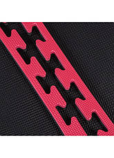 Мат пазл (ластівчин хвіст) Springos Mat Puzzle EVA 100x100x2 см Black/Red. Татамі килимок, фото 3