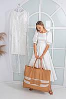 Сумка для свадебных платьев,  кремовая, фото 1