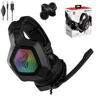 Геймерские наушники для игр с микрофоном игровые Fantech MH83 Звук 360 Игровая гарнитура 7.1 с подсветкой