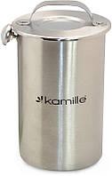 Ветчинница нержавеющая Kamille - 100 мм x 1,5 л с термометром