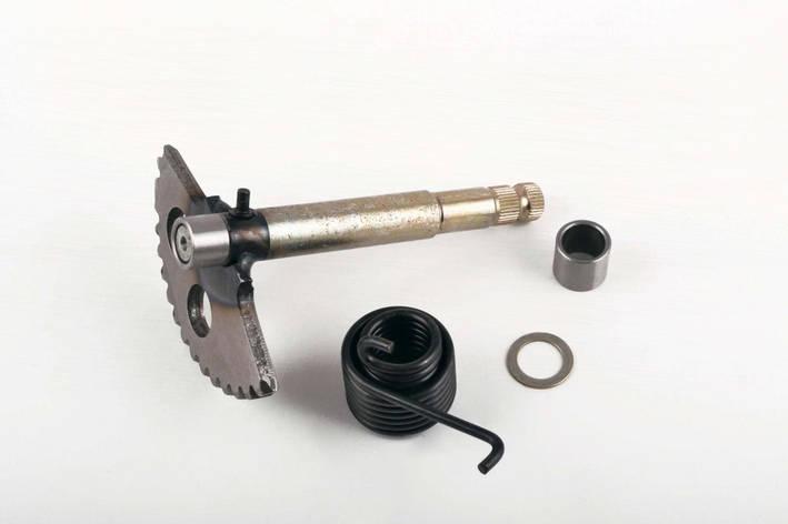Сектор заводной полумесяц скутер 4T GY6 125/150 L-130mm с пружиной и втулкой, фото 2