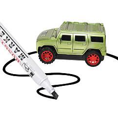 Індуктивна машинка CX002(Green) 14см, 1:24, їздить по лінії, маркер