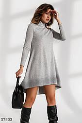 Ангоровое асимметричное теплое платье