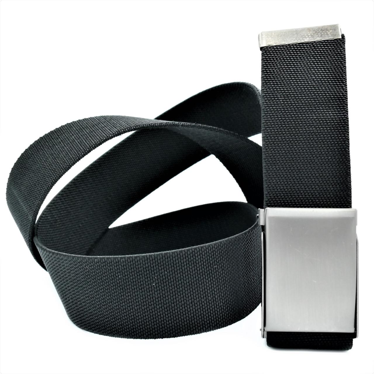 Универсальный ремень-резинка чёрный Ремень резинка стильный Ремень поясной плетенка резинка