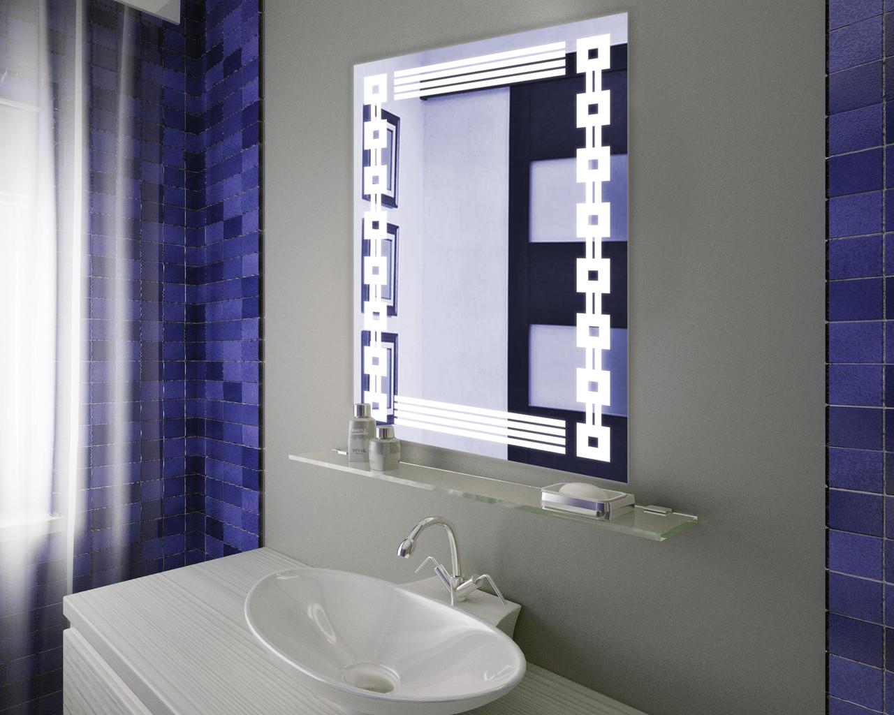 Зеркало LED (60*80*2,5см) VZ-AL-D10 с сенсором,