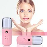 Увлажнитель для лица, карманный увлажнитель, нано распылитель для лица, дезинфекция рук/ магазин Gipo, фото 3