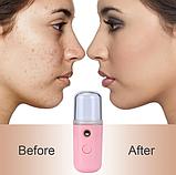Увлажнитель для лица, карманный увлажнитель, нано распылитель для лица, дезинфекция рук/ магазин Gipo, фото 8