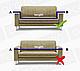 Чехол на диван эластичный защитный Трикотаж-жатка 3-х местный, HomyTex Песочный, фото 3