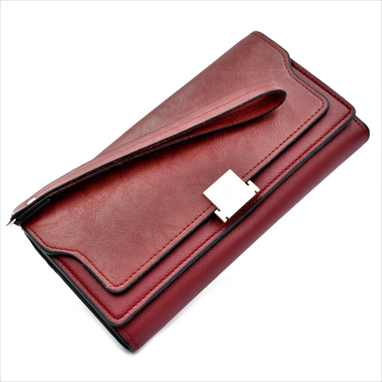 Женский кошелёк из эко кожи Красный качественный современный кошелек для женщины Кошелек для девушки