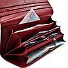 Женский кожаный кошелек Красный Качественный современный кошелек для девушки Кожаный кошелек для девушки, фото 4